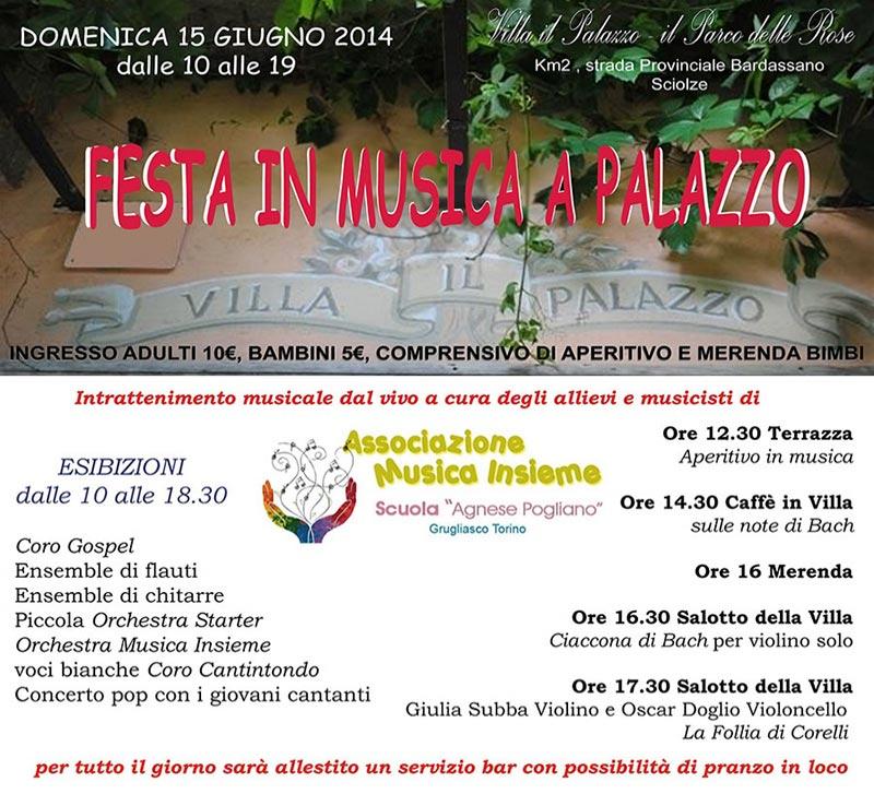 15 GIUGNO 2014 Festa in Musica a Palazzo