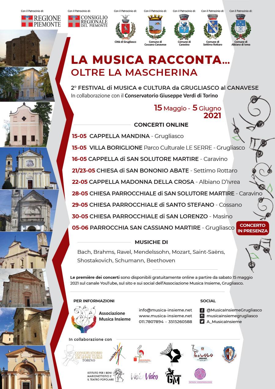 Locandina 2° Festival di Musica e Cultura da Grugliasco al Canavese